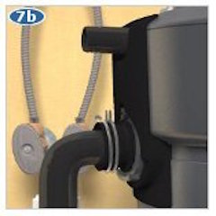 install garbage disposal discharge tube